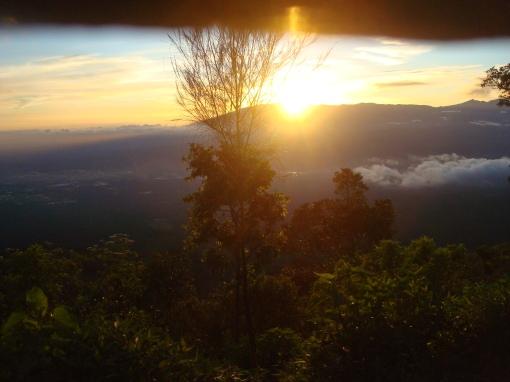 sun rise from arjuno sight behind mahameru, mboiz tennnan...